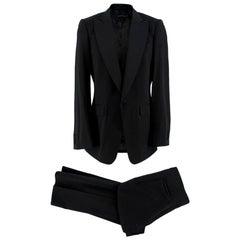 Burberry Black Wool Hand-Tailored Tuxedo Set - Size L EU 50