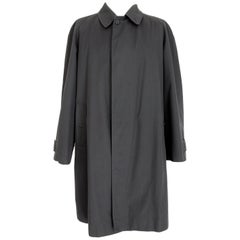 Burberry Blue Cotton Classic Long Raincoat