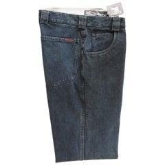 Burberry Blue Denim Cotton Classic Jeans High Waist Pants 1980s NWT