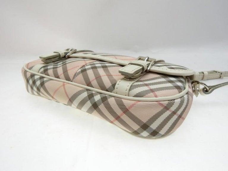 Burberry Blue Label Nova Check 231788 Pink Canvas Cross Body Bag For Sale 5