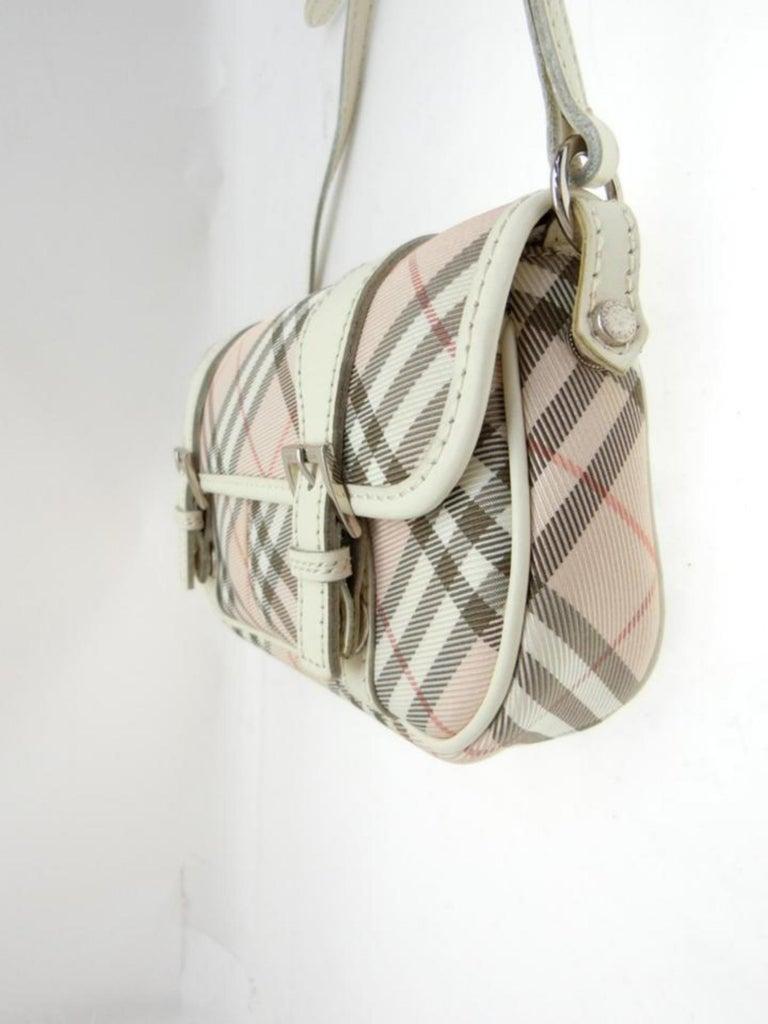 Burberry Blue Label Nova Check 231788 Pink Canvas Cross Body Bag For Sale 1