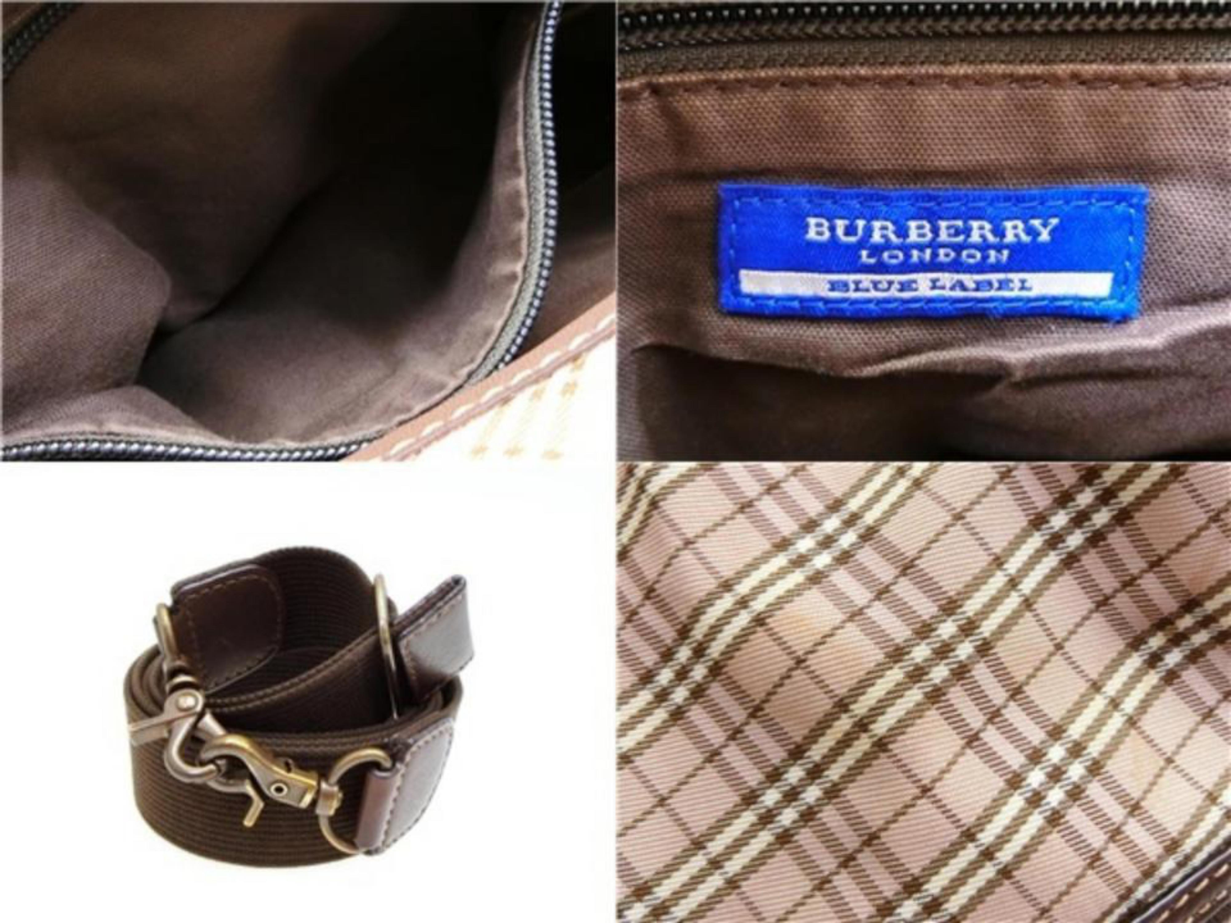 1ce15a84c93d Burberry Blue Label Nova Check 2way Flap 232549 Brown Canvas Satchel For  Sale at 1stdibs