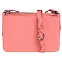 Burberry Blush Pink Leather Triple Zip Crossbody Bag