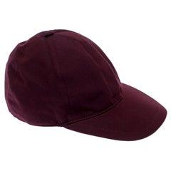 Burberry Boysenberry Burgundy Cotton Logo Crest Cap S/M