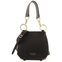 Burberry Bridle Handbag Leather and Haymarket Check Medium