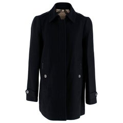 Burberry Brit Black Wool Blend Coat - Size US 8