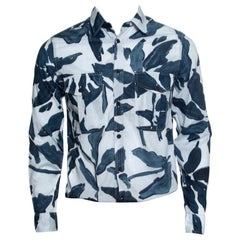 Burberry Brit Blue Floral Printed Cotton Patch Pocket Detail Shirt S