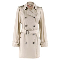 Burberry Brit Classic Beige Double-breasted Trench Coat - Size US 6