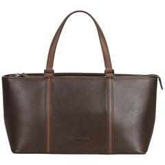 Burberry Brown Dark Brown Leather Handbag United Kingdom