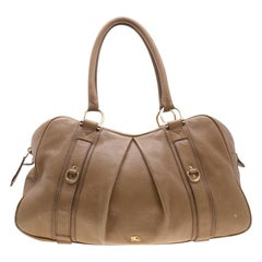 Burberry Brown Leather Large Malika Hobo