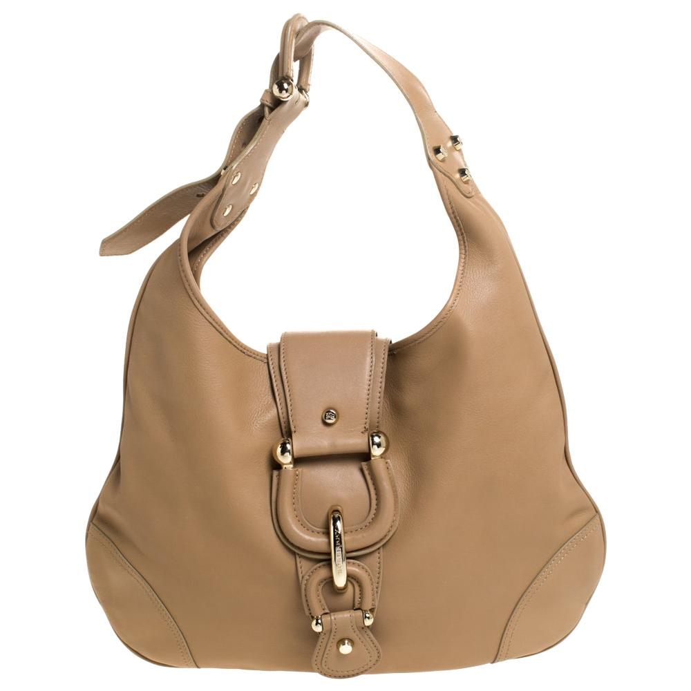 Burberry Brown Leather Medium Hillgate Hobo