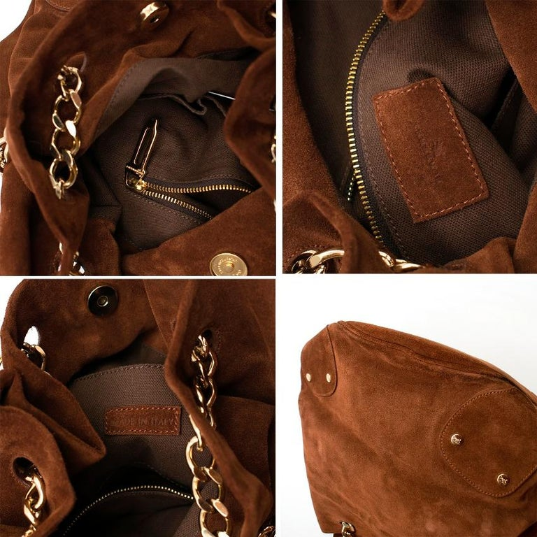 Burberry Brown Suede Bucket Bag  For Sale 6