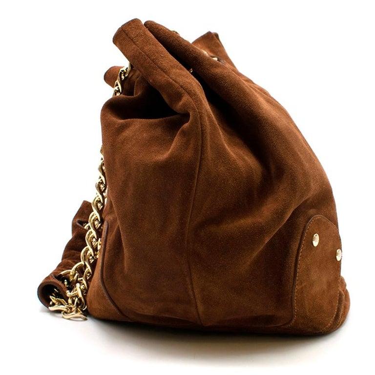 Women's Burberry Brown Suede Bucket Bag  For Sale