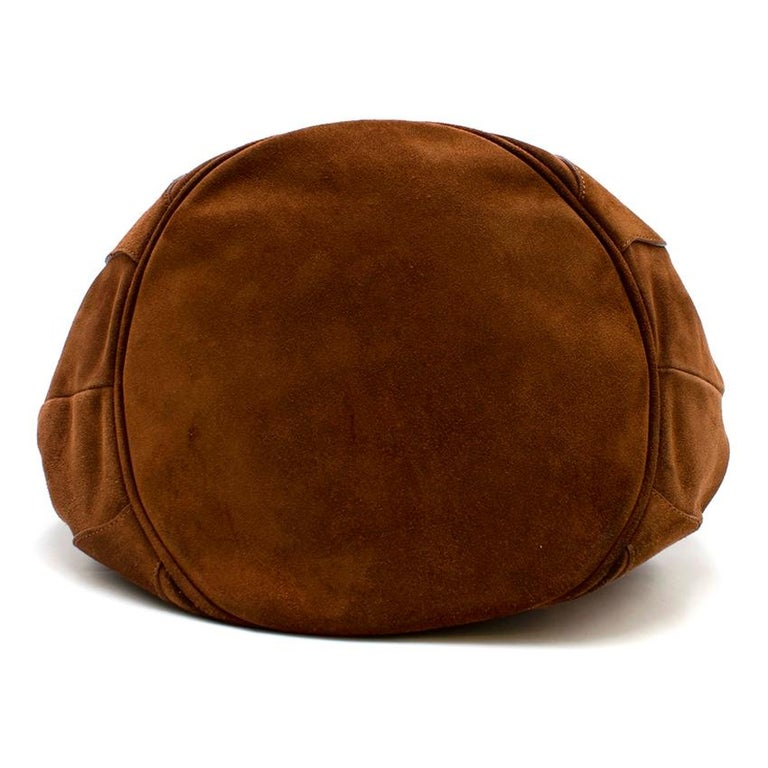Burberry Brown Suede Bucket Bag  For Sale 1