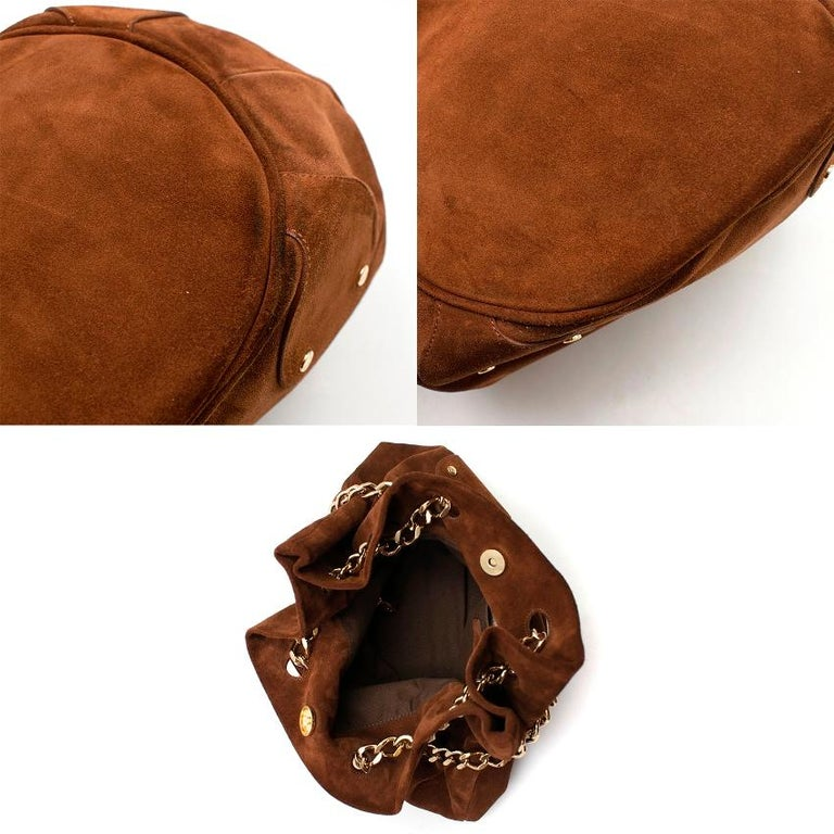 Burberry Brown Suede Bucket Bag  For Sale 2