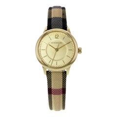 Burberry BU10201 Honey Dial Stainless Steel Gold Tone Quartz Ladies Watch