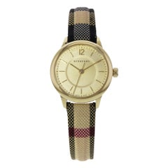 Burberry BU10201 Honey Dial Stainless Steel Gold Tone Quartz Ladies Watch