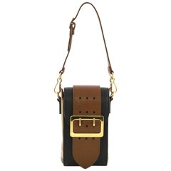 Burberry Buckle Belt Bag House Check and Leather Vertical