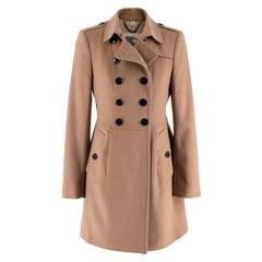 Burberry Camel Cashmere Blend Coat - Size XS