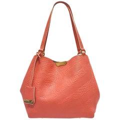 Burberry Canterbury Rose Pink Embossed Check Tote Handbag