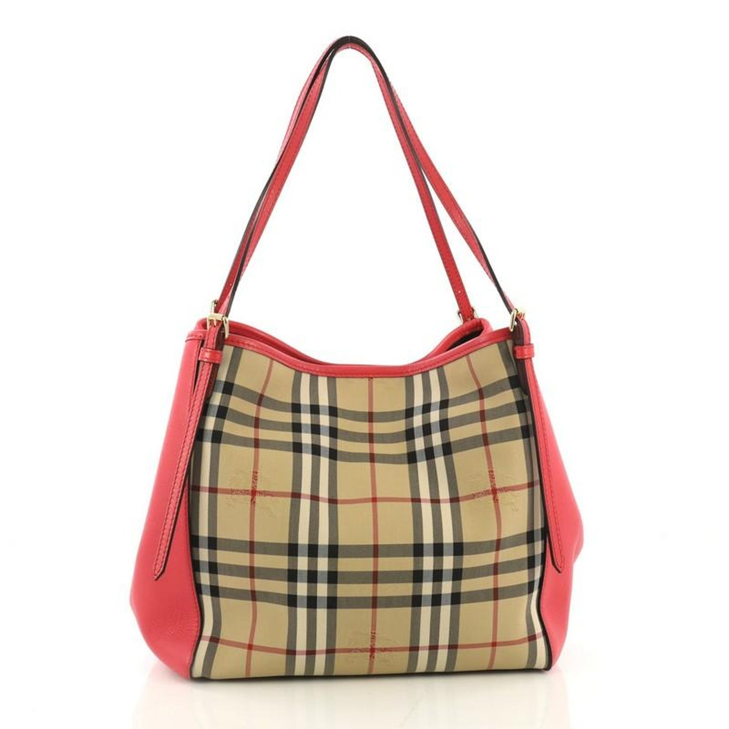 6971c2ca9d Burberry Canterbury Tote Horseferry Check Canvas and Leather Small For Sale  at 1stdibs