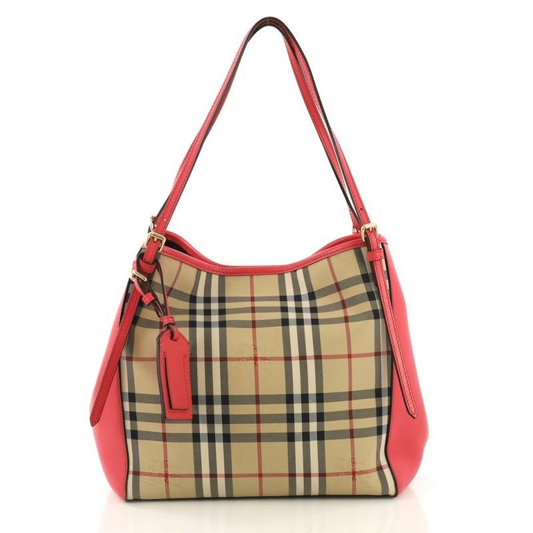 1b1d96504a This Burberry Canterbury Tote Horseferry Check Canvas and Leather Small,  crafted in horseferry check coated