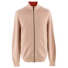 Burberry Cashmere Zip Up Turtleneck Jacket L