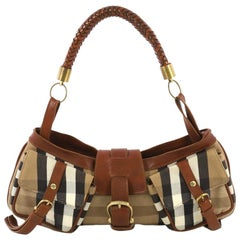 14c2629c8a5 Burberry Brown/Beige Leather and Quilted House Check Margaret ...