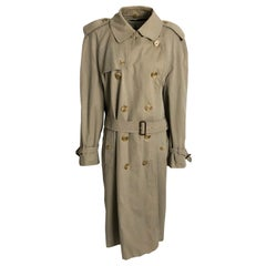 Burberry Classic Trench Coat with Belt Mens Vintage Outerwear Sz 48