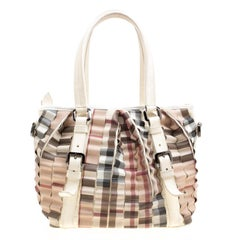 Burberry Cream Cartridge Nova Check Lowry Tote