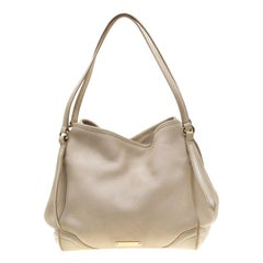 Burberry Cream Leather Small Canterbury Tote