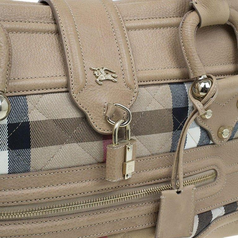 4a2a89a4ab14 Burberry Cream Quilted House Check Manor Satchel Bag For Sale at 1stdibs
