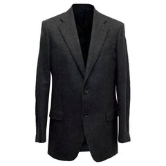 Burberry Dark Grey Wool Blend Blazer Size L EU 50