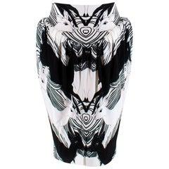 Burberry Deer Print Gathered Jersey Sculptural Skirt XXS