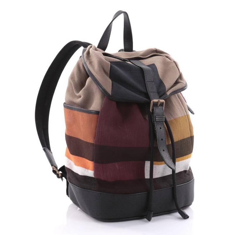 1stdibs Burberry Drifton Backpack House Check Canvas z1GDvodXar