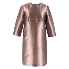 Burberry Dusty Pink Silk Satin Shift Dress UK SIZE 8