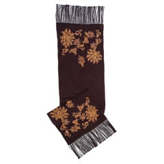 Burberry Embroidered Cashmere Brown Stole
