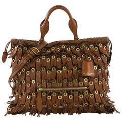 Burberry Eyelets Big Crush Tote Fringe Calf Hair Large