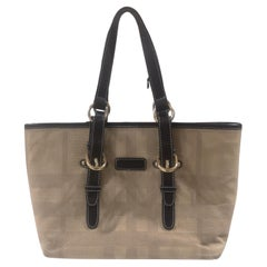 Burberry fabric and leather shoulder bag