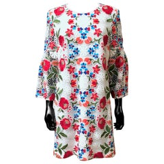 Burberry Floral Embroidered Lace Dress