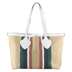 Burberry Giant Tote Striped Raffia Medium
