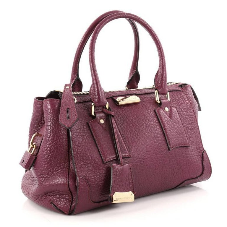 1dfbcb426c85 Brown Burberry Gladstone Bag Heritage Grained Leather Small For Sale
