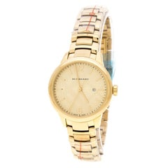 Burberry Gold Plated Stainless Steel Classic BU10109 Women's Wristwatch 32 mm