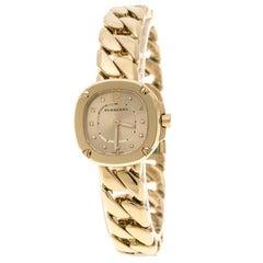 Burberry Gold Plated Steel BBy1952 Women's Bracelet Watch 18 cm