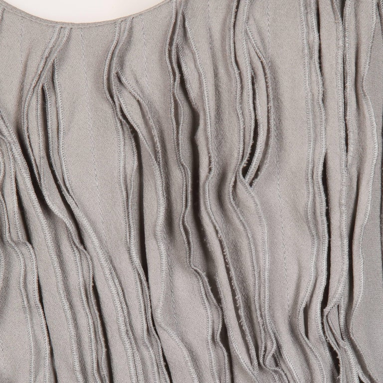 Burberry Gray Silk Tank Top For Sale 2