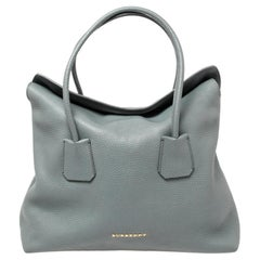 Burberry Grey Grained Leather Baynard Tote