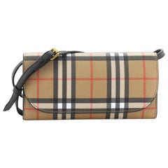 Burberry Henley Wallet on Chain Vintage Check Canvas