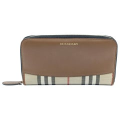 Burberry Horseferry Check Leather Canvas Wallet 4024978
