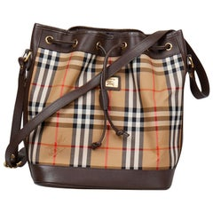 Burberry Horseferry Check London Bucket Bag