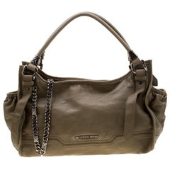 Burberry Khaki Leather Shoulder Bag